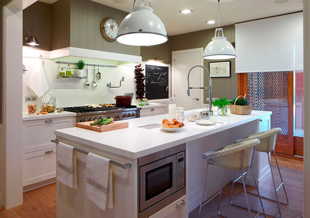 Proyecto cocina moderna 01 for Interior cocinas modernas